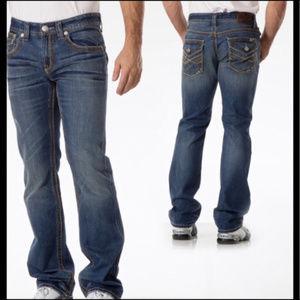 Seven7 Straight dark indigo wash jeans 30X32